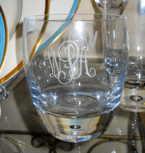$68.00 Monogram DOF Bar Glass