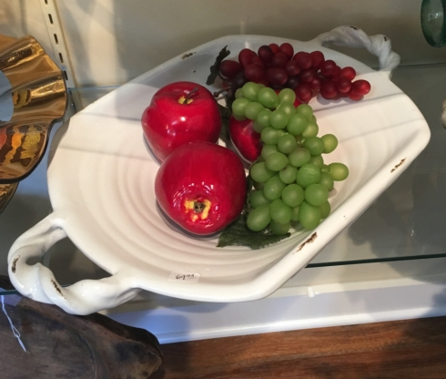 $69.99 White pottery dish with handles