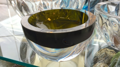 Crystal bowl - Olive/clear collection with 1 products