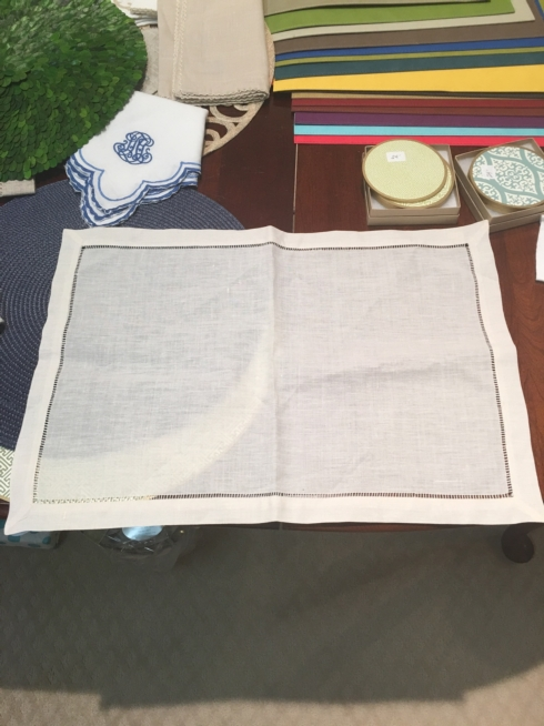 $10.99 Ecru Hemstitch Placemats