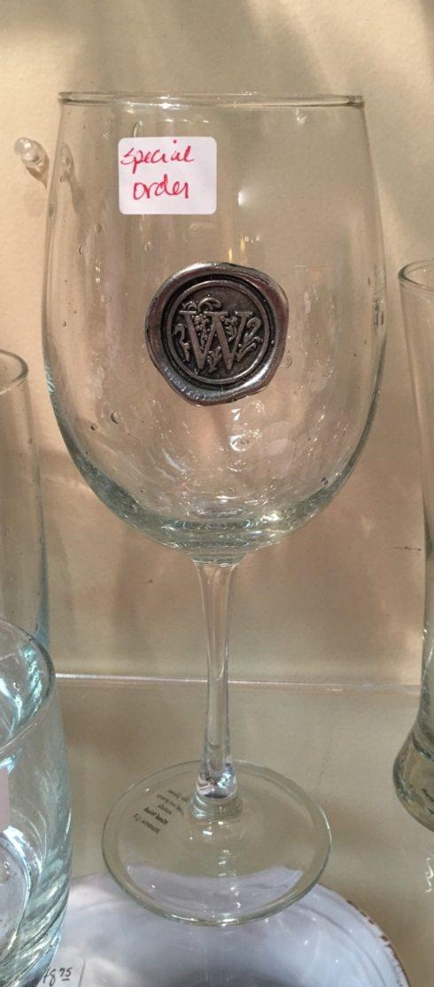$18.99 Wine glasses with Initials - SPECIAL ORDER