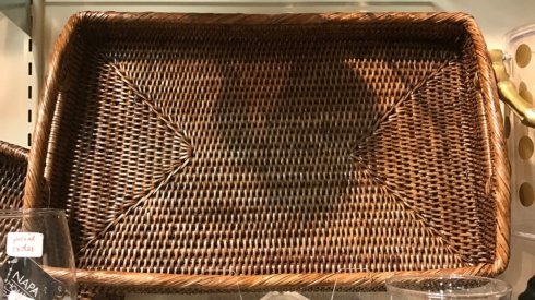 "$89.99 Medium 20"" Wicker Tray"