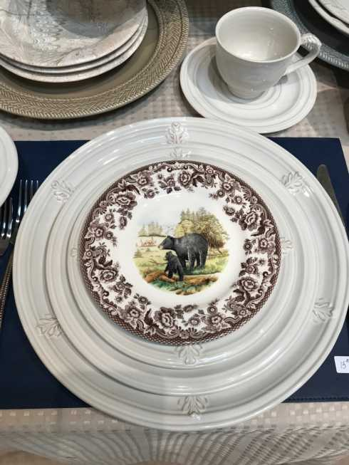 $34.00 Woodland Spode Salad Plates - various Animals & Crystal Plate Exclusives ~ Dinnerware ~ Woodland Spode Dinner Plates ...