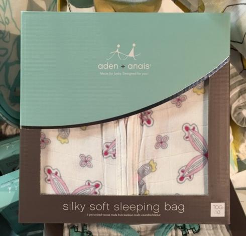 $44.00 Bamboo Pinwheel Sleep Sack by Aden & Anais - M(6-12M)