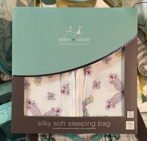 $44.00 Bamboo Pinwheel Sleep Sack by Aden & Anais - S(0-6M)