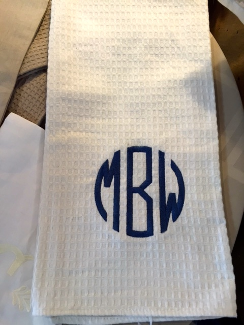 $19.99 Dish Towel with Initials