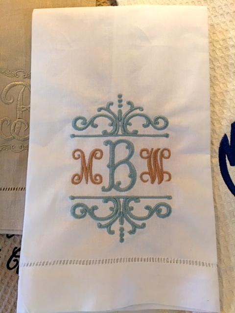 $19.99 Decorative Monogrammed Towel