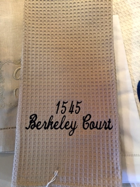 $19.99 Kitchen Towels with Address