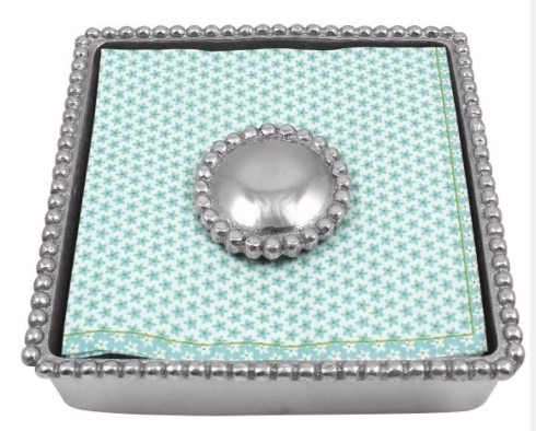 Pearled Beaded Napkin Box collection with 1 products