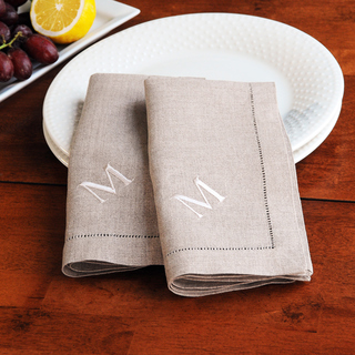 $17.75 Natural Linen Hemstitch Napkin