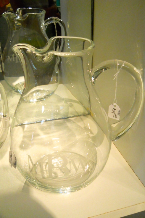 $89.99 monogrammed crystal pitcher