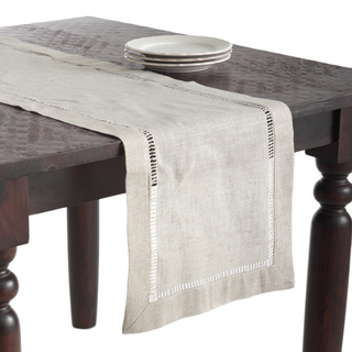 $34.00 Natural Linen Hemstitch Table Runner