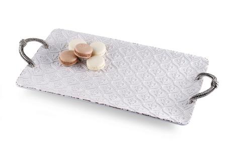 $74.00 Fleur de Lis Rectangle Platter