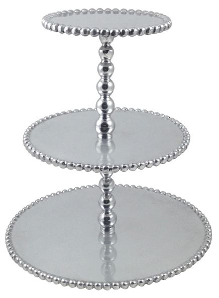 Pearled 3 Tier Cupcake Server collection with 1 products
