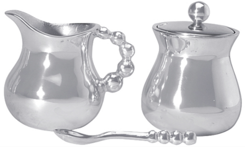 Pearled Cream and Sugar Set collection with 1 products