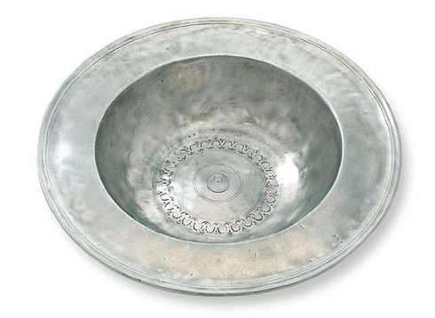 $337.00 Wide Rimmed Pewter Bowl