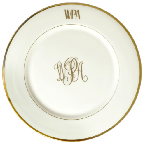 $105.00 Monogrammed Charger