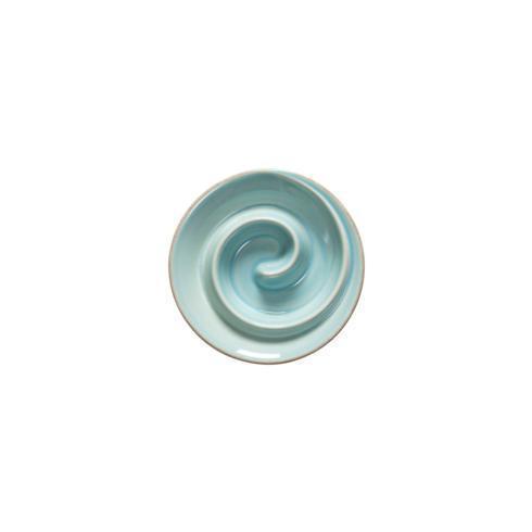 """Casafina  Cook & Host - Robin's Egg Blue Spiral appetizer Dish 6"""" $18.50"""