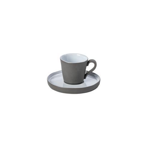 Costa Nova  Lagoa Eco Gres - White Espresso Cup & Saucer 3 oz. $29.00