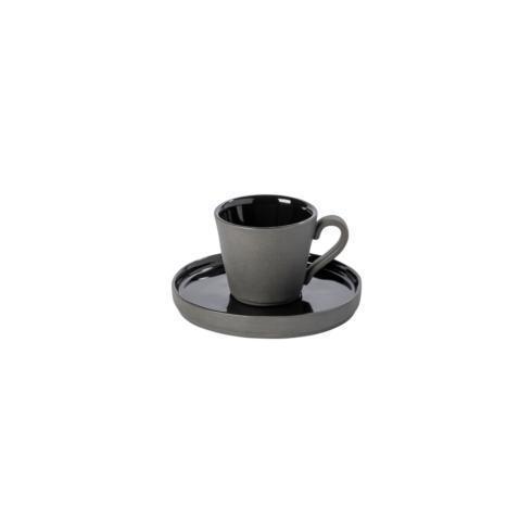 Costa Nova  Lagoa Eco Gres - Black Coffee Cup and Saucer 3 oz. $29.00