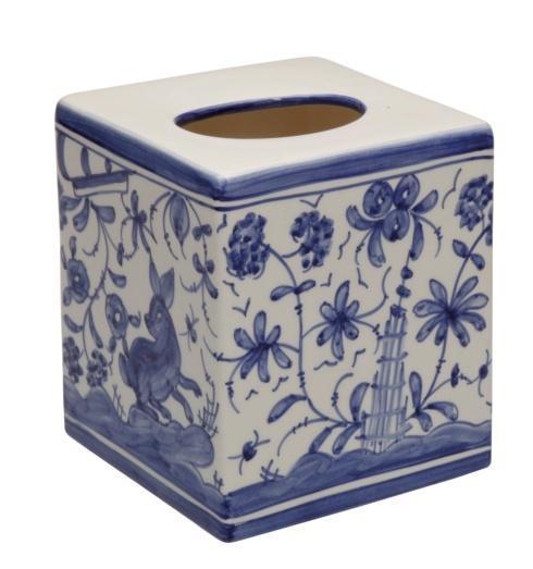 Casafina  Bath Collection - 17th Century Blue Boutique Tissue Box $57.25