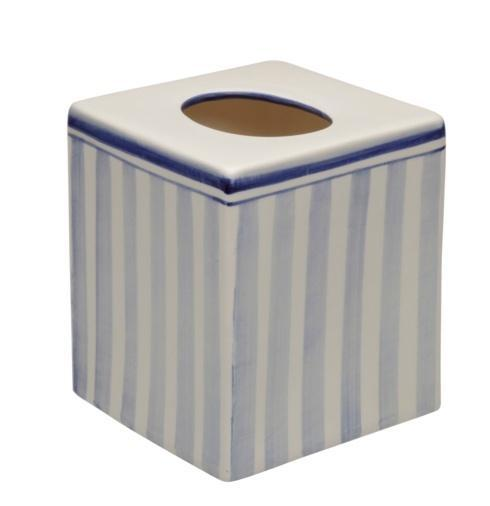 Casafina  Bath Collection - Costa Nova Blue Boutique Tissue Box $43.00