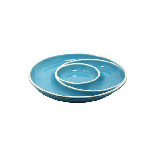 Casafina  Chip & Dip Round Chip & Dip, Blue $35.25