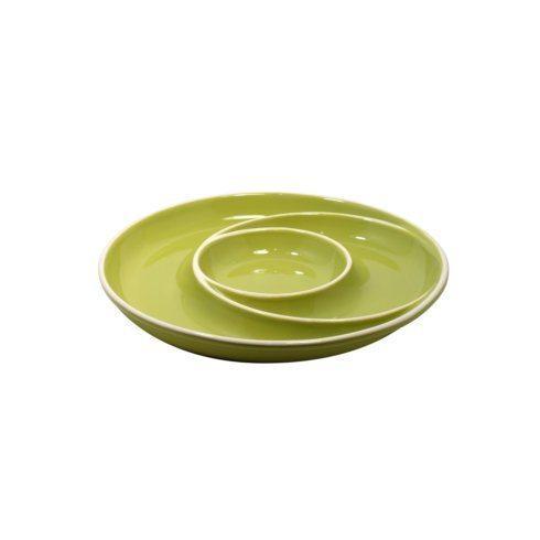 Casafina  Chip & Dip Round Chip & Dip, Green $35.25