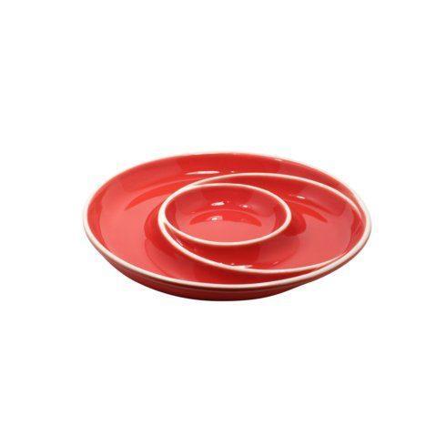 Casafina  Chip & Dip Round Chip & Dip, Red $35.25