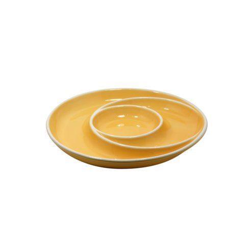 Casafina  Chip & Dip Round Chip & Dip, Yellow $35.25