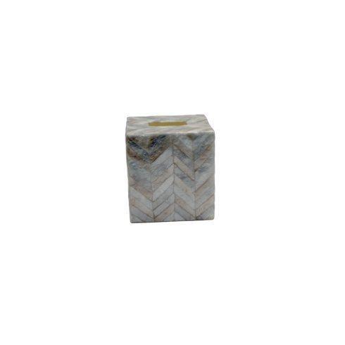 Casafina  Bath Collection - Herringbone Capiz Boutique Tissue Box, Herringbone $50.50