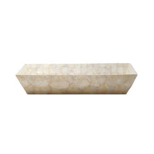 Casafina  Bath Collection - Pearl Capiz Rectangular Towel Tray $74.75