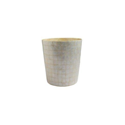 Casafina  Bath Collection - Pearl Capiz Wastebasket $99.00