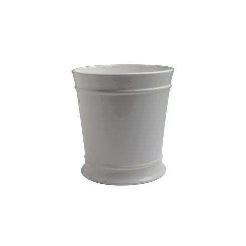 Casafina  Bath Collection - Lexington White Waste Basket, White $60.50