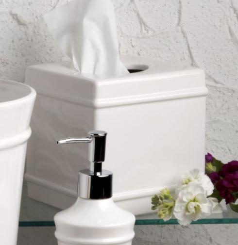 Casafina  Multi/Neutral Bath-Lexington White Boutique Tissue Box, White $39.50
