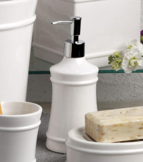 Casafina  Multi/Neutral Bath-Lexington White Lotion Pump, White $39.50