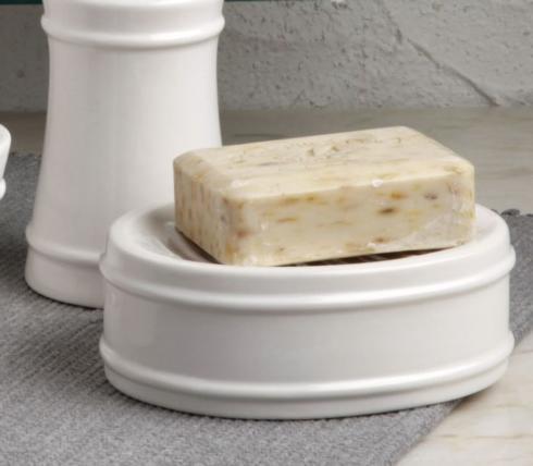 Casafina  Multi/Neutral Bath-Lexington White Soap Dish, White $24.25