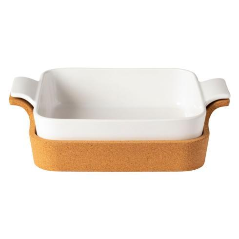"Casafina  Ensemble Gift Sq. Baker w/ Cork Tray 13"" $90.00"