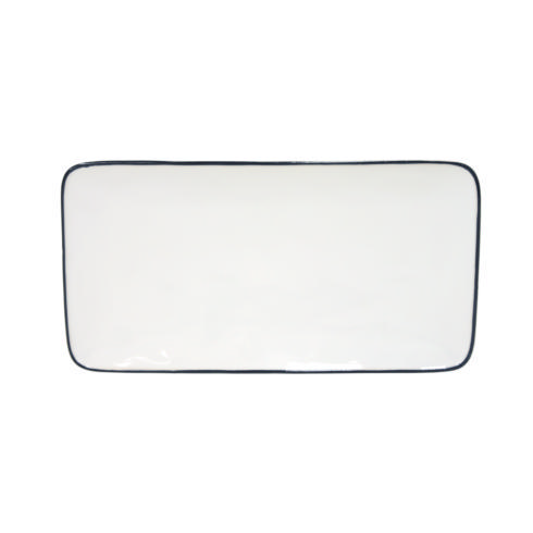 "Costa Nova  Beja - White-Blue Rect. Tray 11"" $33.50"