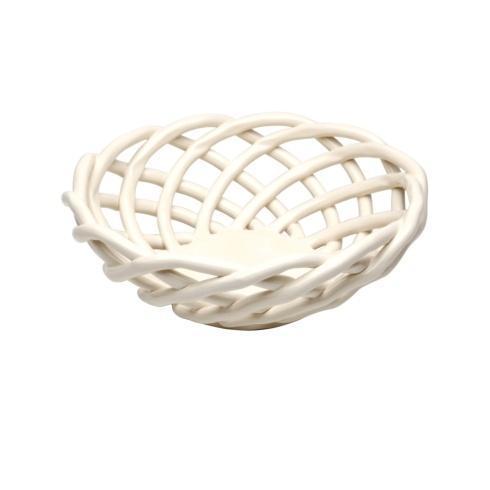 Casafina  Ceramic Baskets Medium Round Basket $53.00