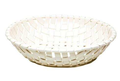 $92.00 Large Oval Basket, White