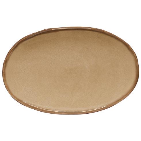 "Casafina  Argila - Sierra Tan Oval Platter 19"" $91.00"