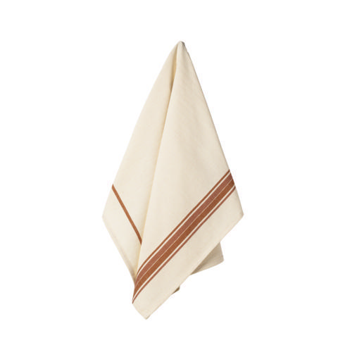 $17.50 Set 2 Kitchen Towels (French Stripes - Orange)