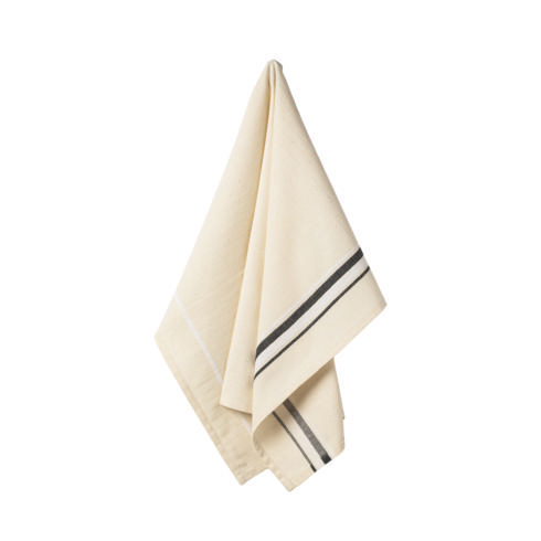 $17.50 Set 2 Kitchen Towels (French Stripes - Black )