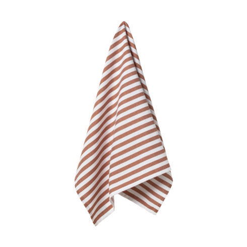 $17.50 Set 2 Kitchen Towels (Stripes - Orange)