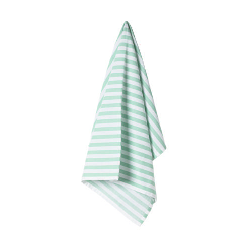 $17.50 Set 2 Kitchen Towels 100% Cotton Stripes Aqua