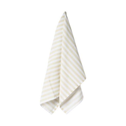 $17.50 Set 2 Kitchen Towels 100% Cotton Stripes Vanilla