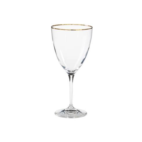 $15.00 Water Glass w/ Golden Rim 14 oz.