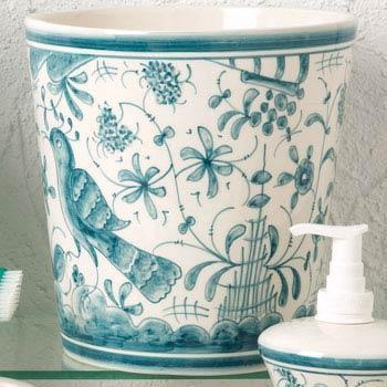 Casafina  Blue Bath - 17th Century Teal Wastebasket $71.50