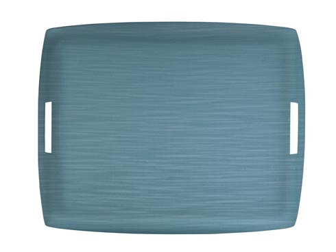 Casafina  Solid Large Rect. Tray, Blue $189.00